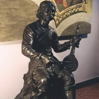 """Guslar"", Galerija Matice srpske, visina 1,60m"